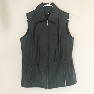 VAKKO SPORT Women's Jacket Vest Size Large Black